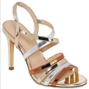 Nicole Miller Metallic Sexy Stiletto Heel Sandals